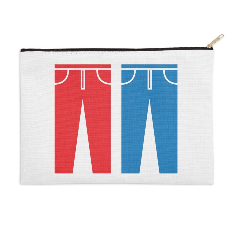 Red and Blue Jeans - Apparel  Accessories Zip Pouch by Washed Up Emo