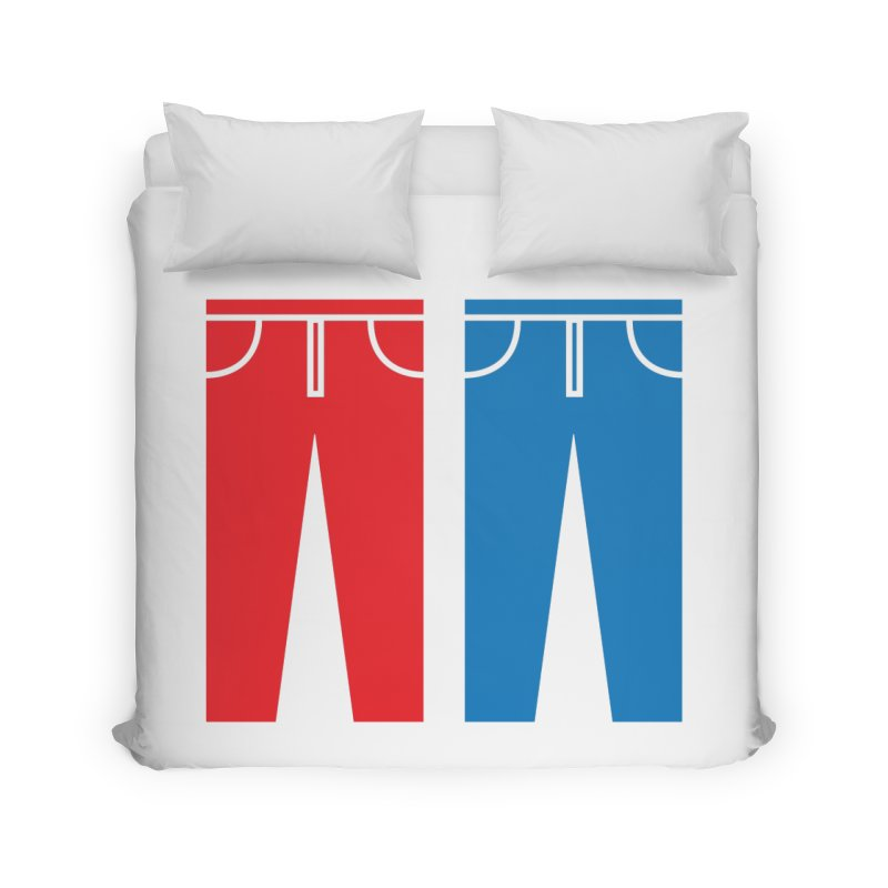 Red and Blue Jeans - Apparel  Home Duvet by Washed Up Emo