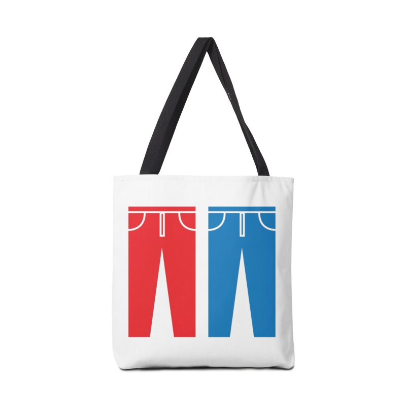Red and Blue Jeans - Apparel  Accessories Tote Bag Bag by Washed Up Emo