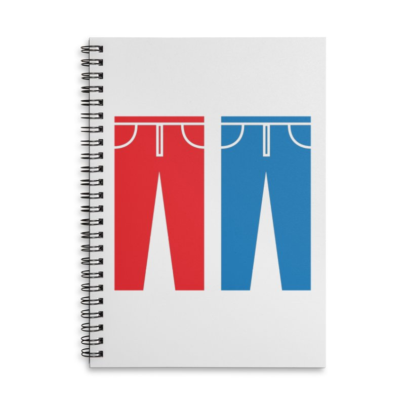 Red and Blue Jeans - Apparel  Accessories Notebook by Washed Up Emo