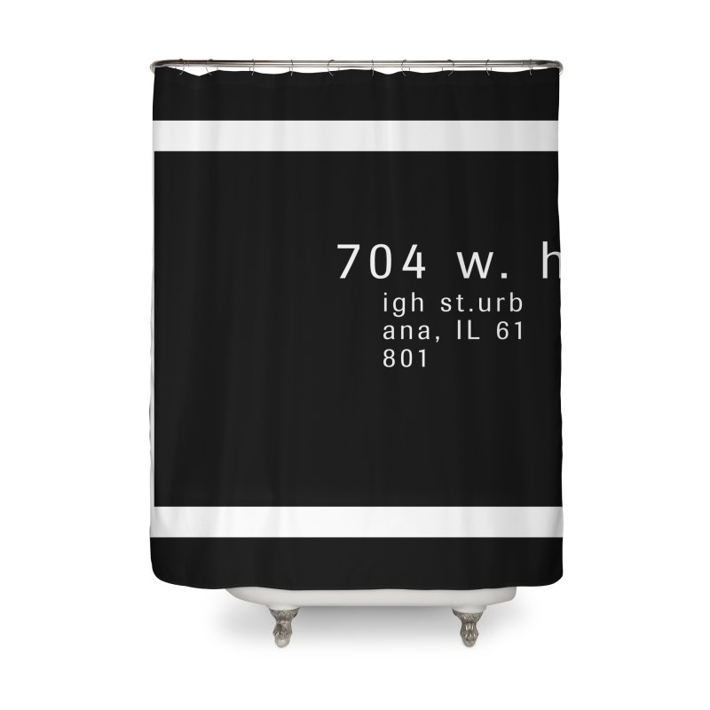 American Football House - Print Home Shower Curtain by Washed Up Emo