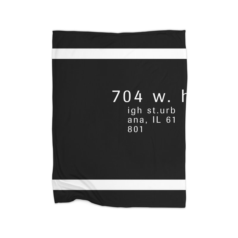 American Football House - Print Home Fleece Blanket Blanket by Washed Up Emo