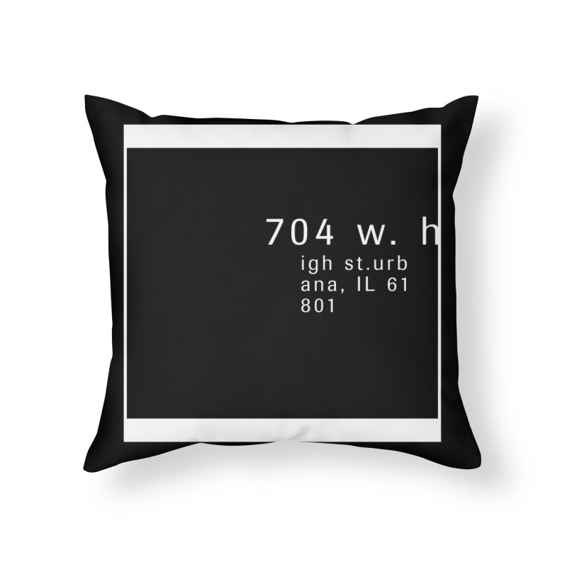 American Football House - Print Home Throw Pillow by Washed Up Emo