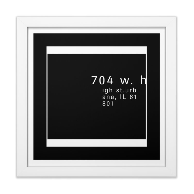 American Football House - Print Home Framed Fine Art Print by Washed Up Emo