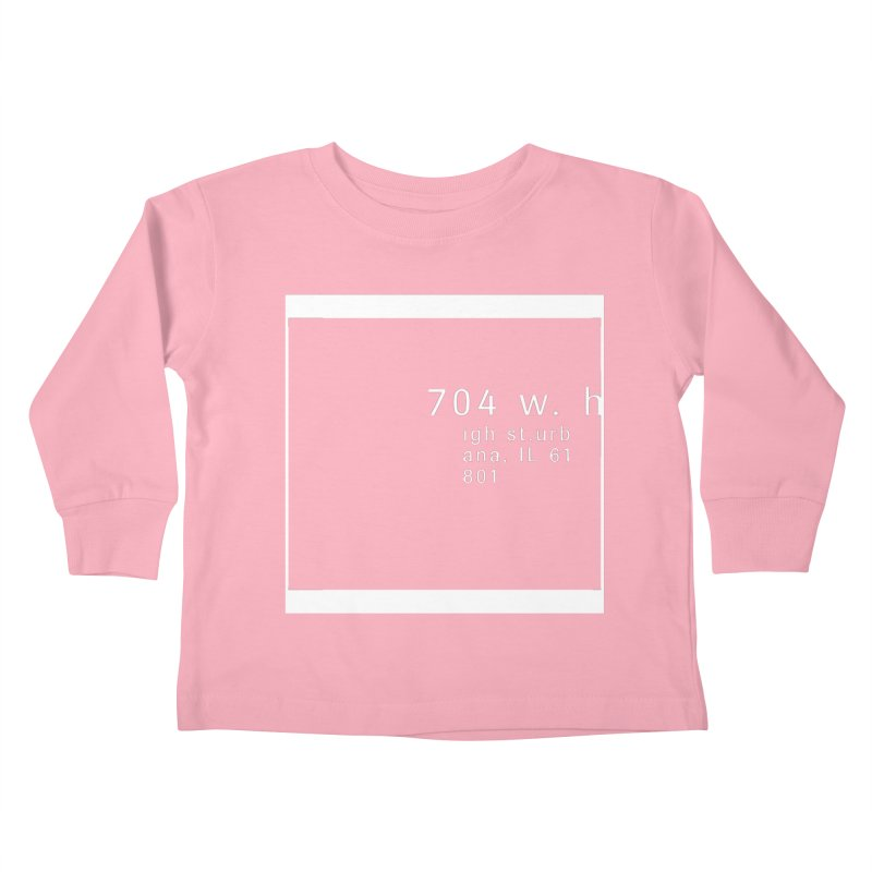 American Football House - Apparel Kids Toddler Longsleeve T-Shirt by Washed Up Emo