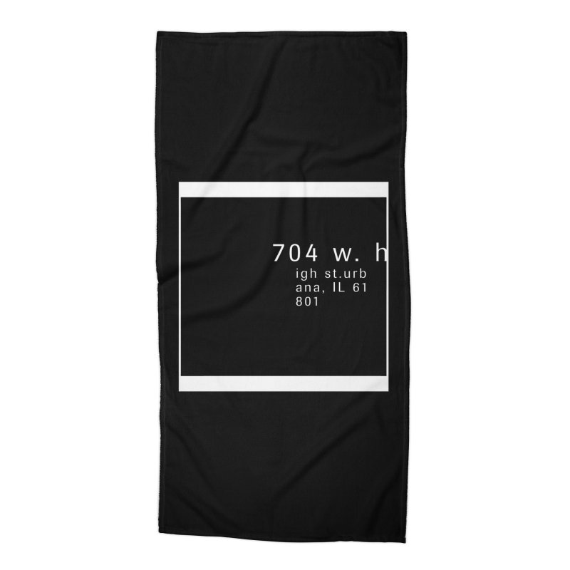 American Football House - Apparel Accessories Beach Towel by Washed Up Emo