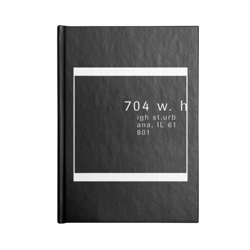 American Football House - Apparel Accessories Lined Journal Notebook by Washed Up Emo