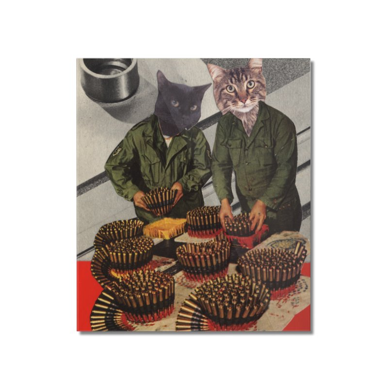 Army Cats Home Mounted Acrylic Print by Was Now Creations
