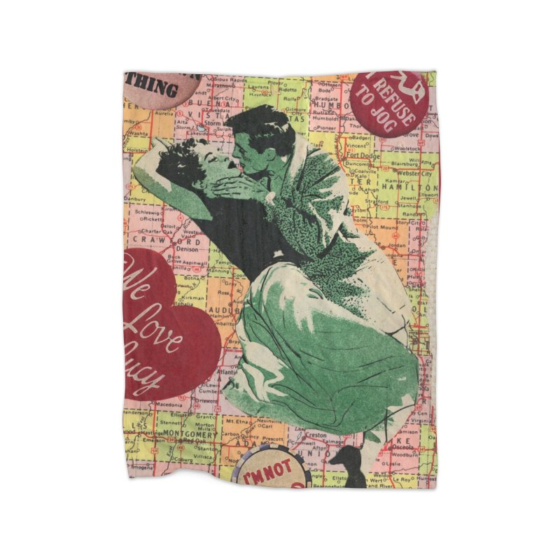 Love Map Home Blanket by Was Now Creations