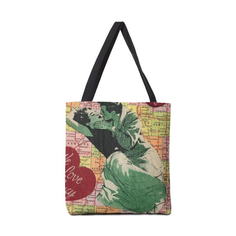 Love Map Accessories Bag by Was Now Creations