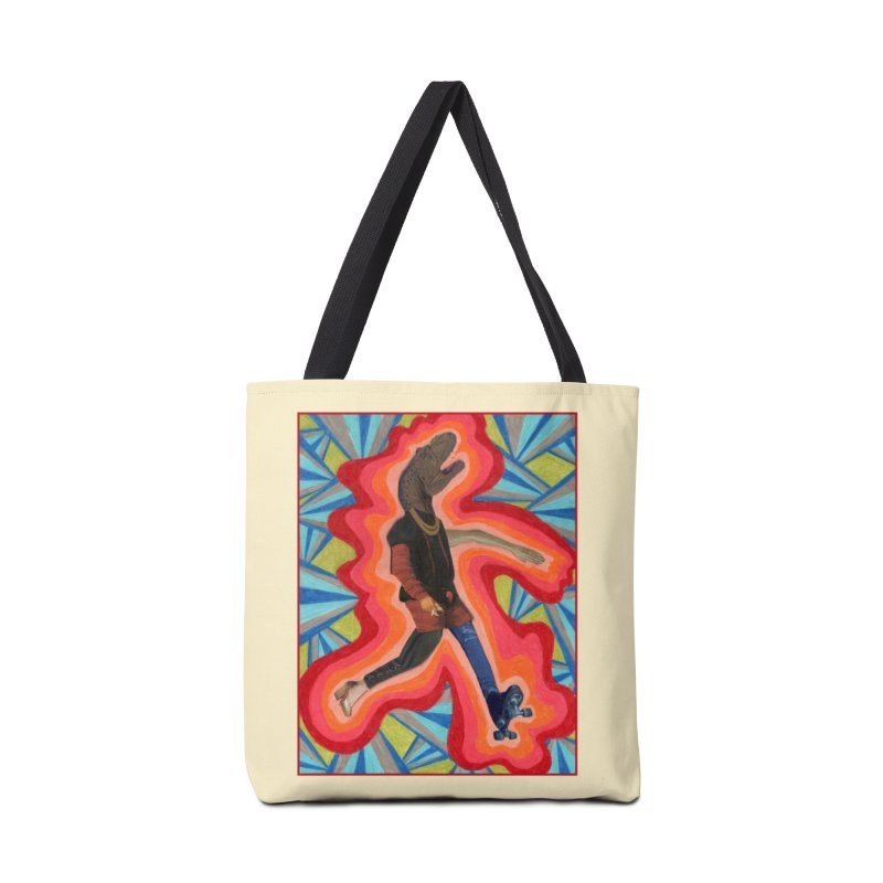 Roller Skating Tyrannosaurus Rex Accessories Bag by Was Now Creations