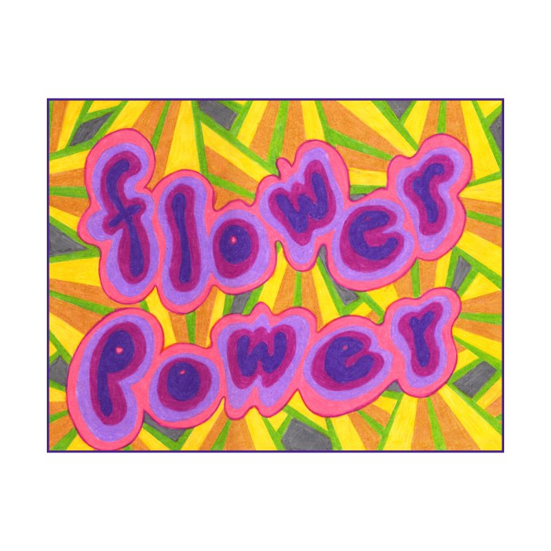 Flower Power Home Mounted Acrylic Print by Was Now Creations