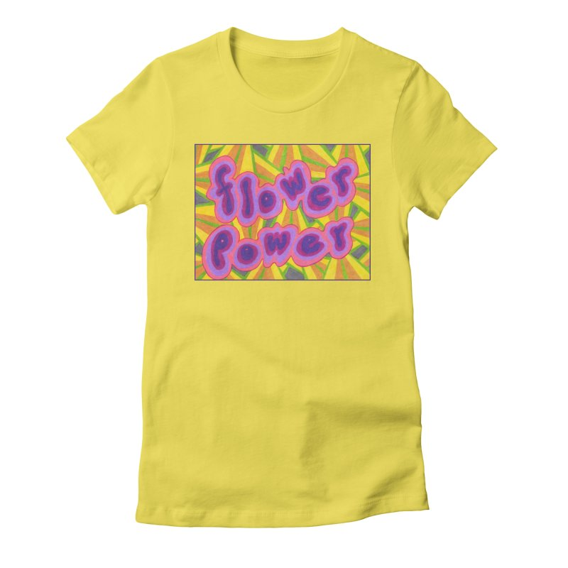 Flower Power Women's T-Shirt by Was Now Creations