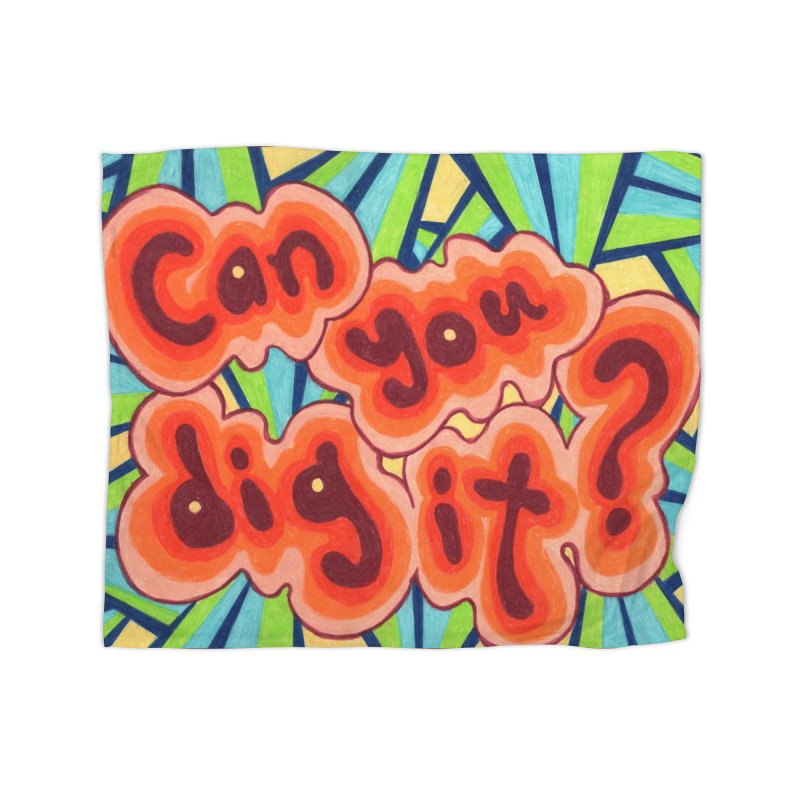 Can you dig it? Home Blanket by Was Now Creations