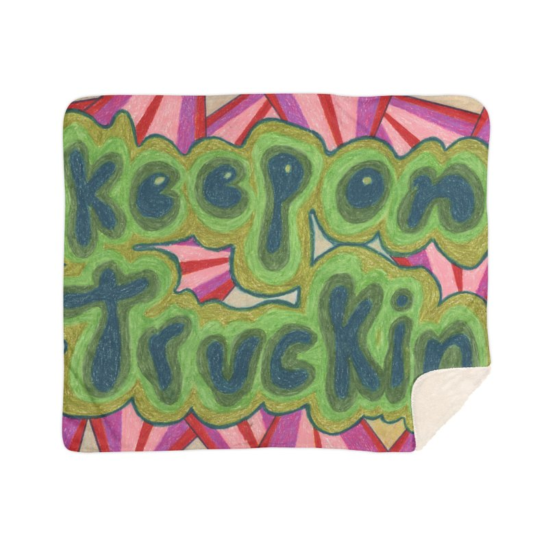 Keep On Truckin' Home Blanket by Was Now Creations