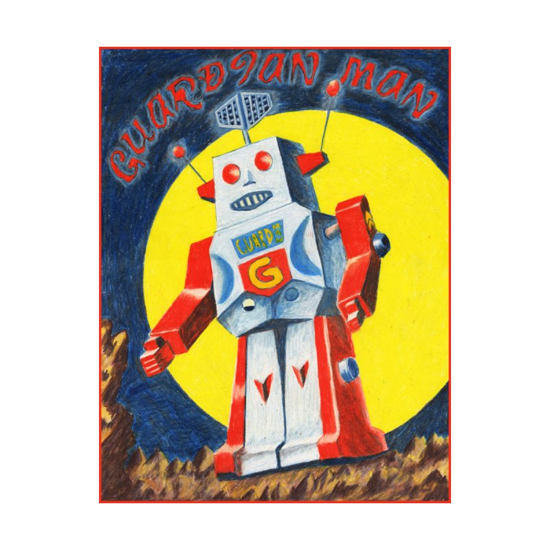 Guardian Man Robot Men's T-Shirt by Was Now Creations