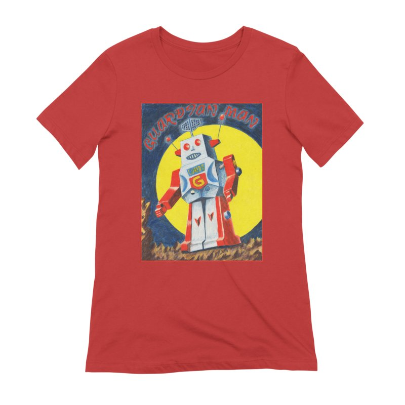Guardian Man Robot Women's T-Shirt by Was Now Creations