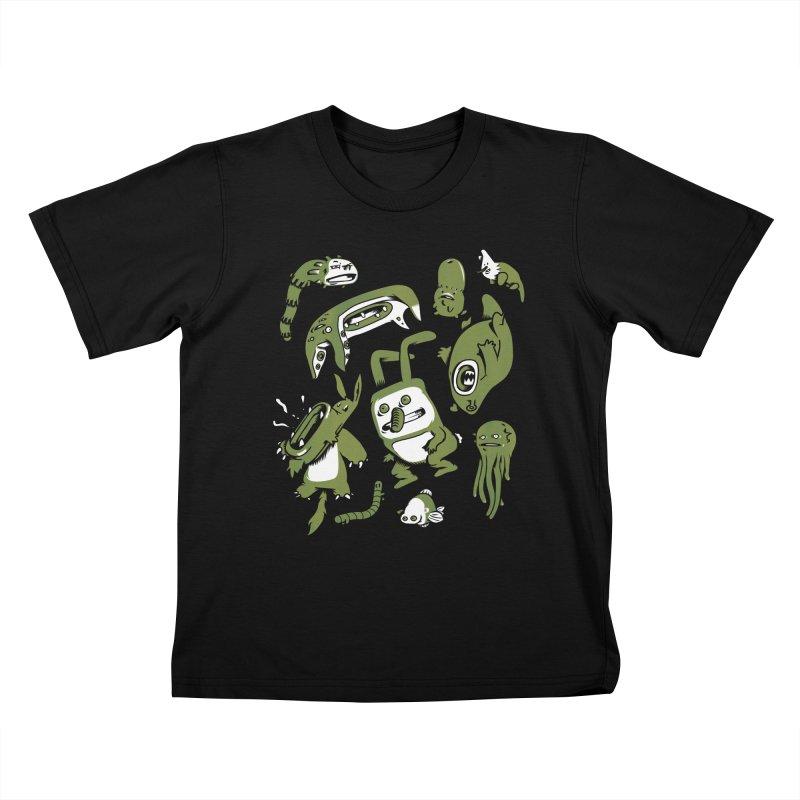Darwinian Kids T-shirt by wasp's Artist Shop