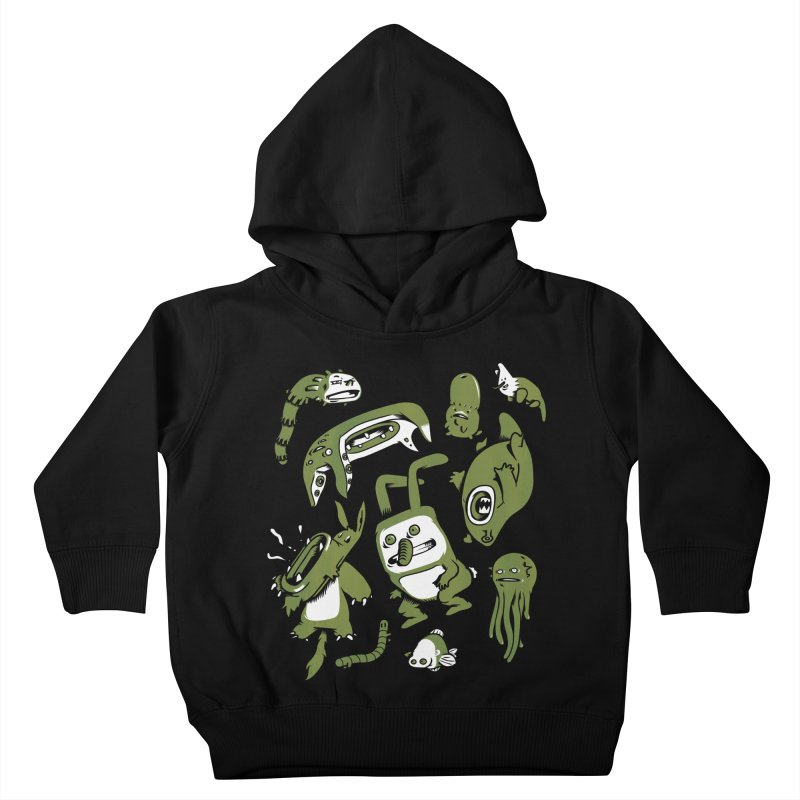 Darwinian in Kids Toddler Pullover Hoody Black by wasp's Artist Shop