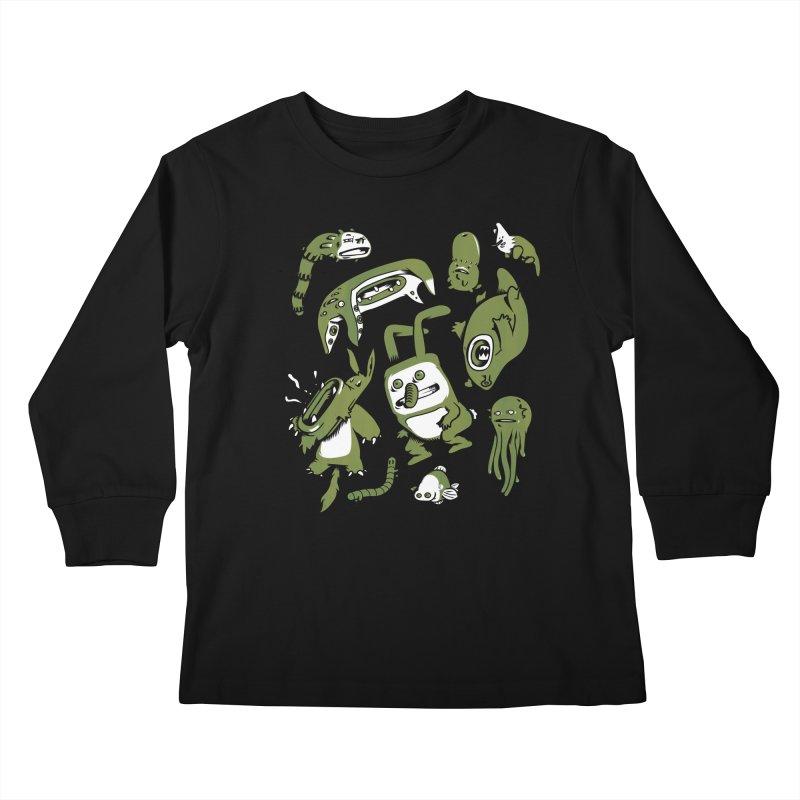 Darwinian Kids Longsleeve T-Shirt by wasp's Artist Shop