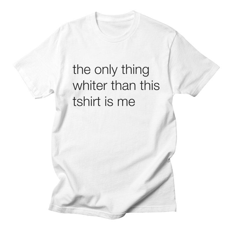 white Men's T-Shirt by wat