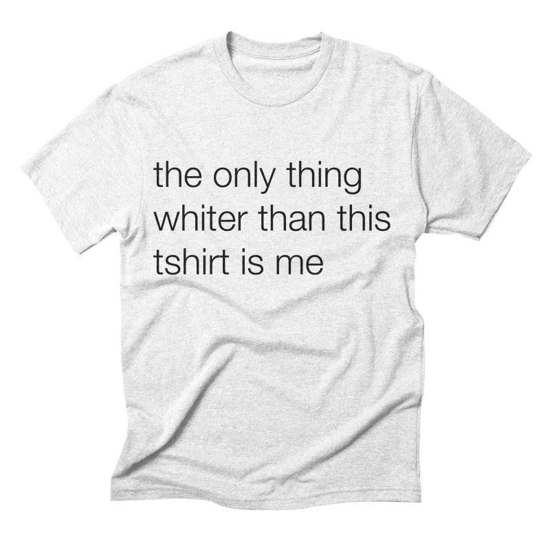 white Men's Triblend T-shirt by wat