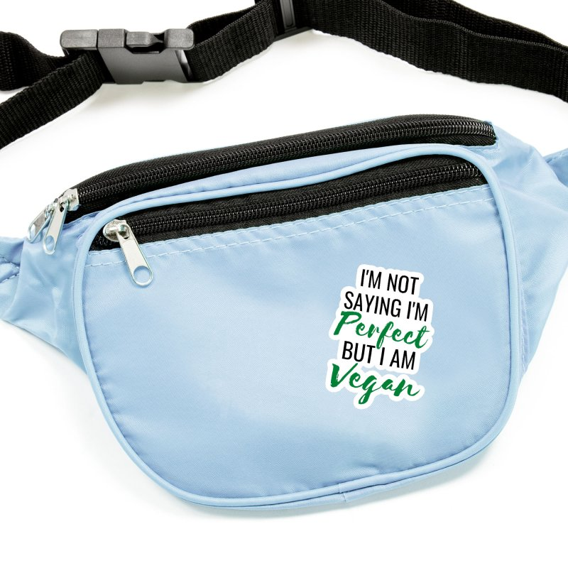I'm not saying I'm perfect but I am vegan (with black and green writing) Accessories Sticker by Watch Learn Eat Shop