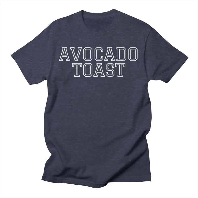 Avocado Toast (University-Style Text) Men's T-Shirt by Watch Learn Eat Shop