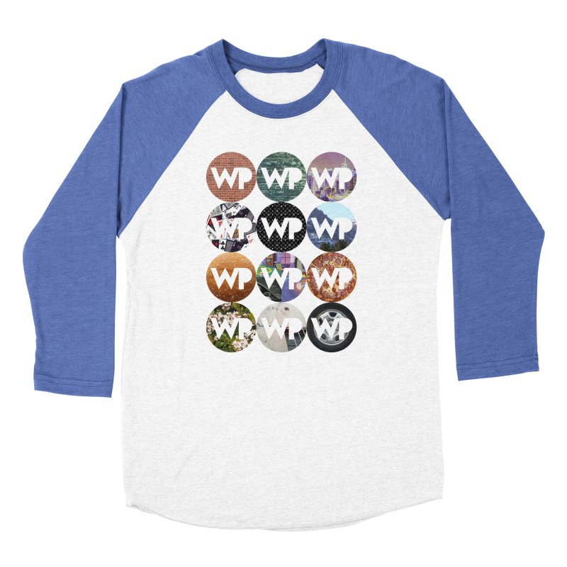 WP Dots 1 Men's Baseball Triblend Longsleeve T-Shirt by WatchPony Clothing Collection