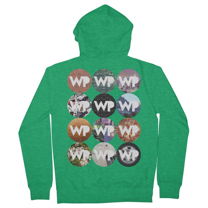 WP Dots 1 Women's French Terry Zip-Up Hoody by WatchPony Clothing Collection