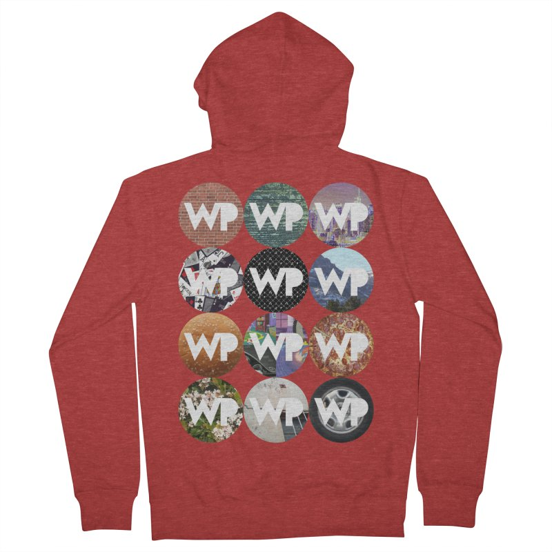 WP Dots 1 Men's French Terry Zip-Up Hoody by WatchPony Clothing Collection