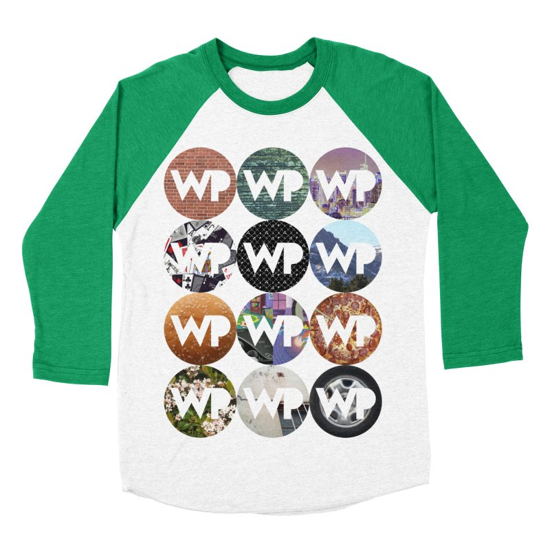 WP Dots 1 Women's Baseball Triblend Longsleeve T-Shirt by WatchPony Clothing Collection