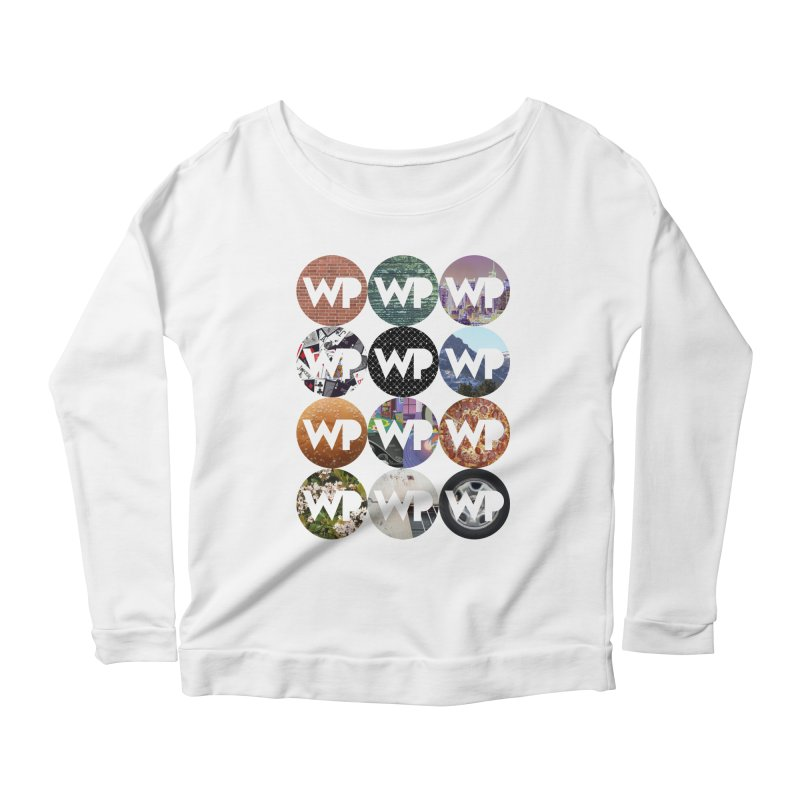 WP Dots 1 Women's Scoop Neck Longsleeve T-Shirt by WatchPony Clothing Collection