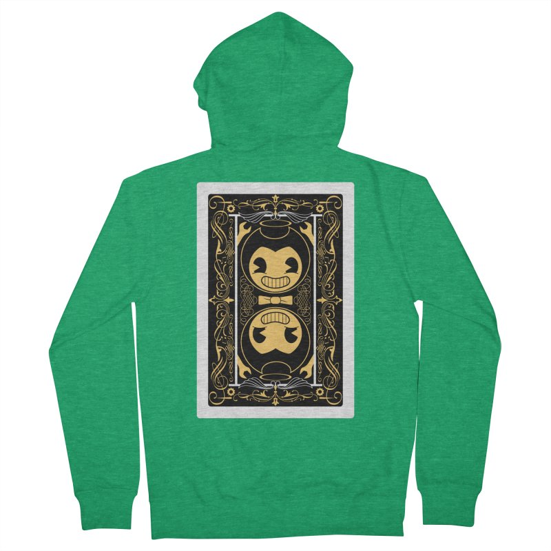 Bendy and the Ink Machine Playing Card Women's Zip-Up Hoody by WatchPony Clothing Collection