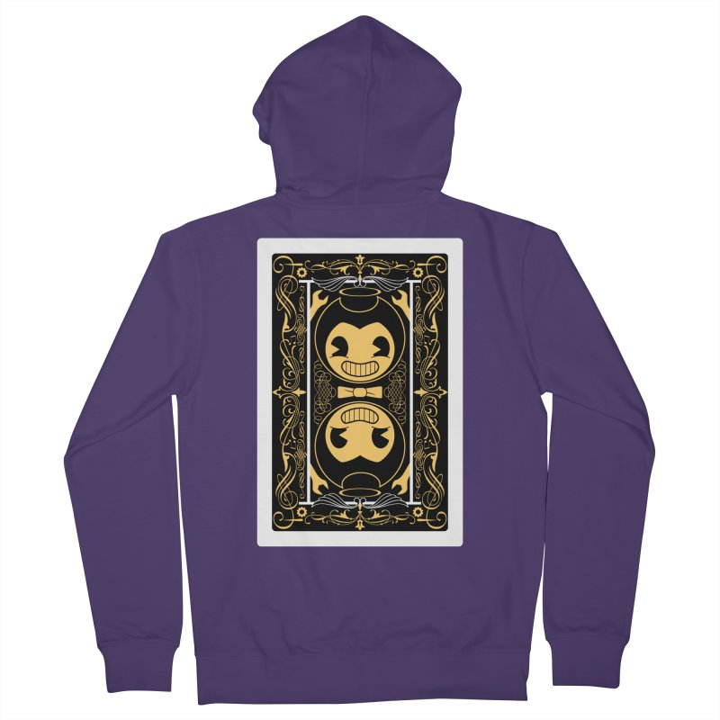 Bendy and the Ink Machine Playing Card Women's French Terry Zip-Up Hoody by WatchPony Clothing Collection