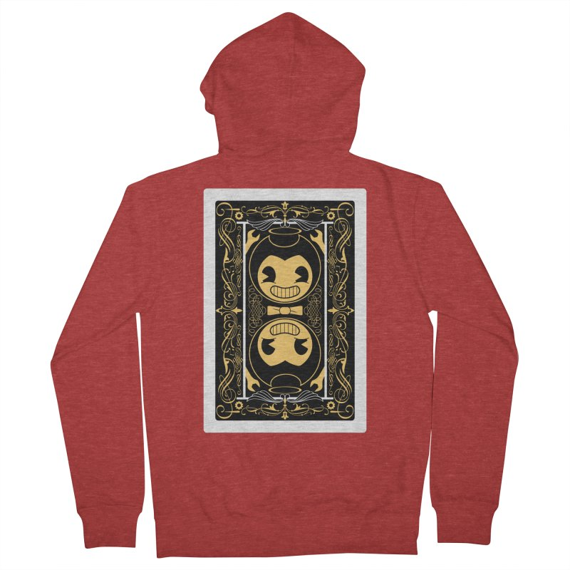 Bendy and the Ink Machine Playing Card Men's French Terry Zip-Up Hoody by WatchPony Clothing Collection