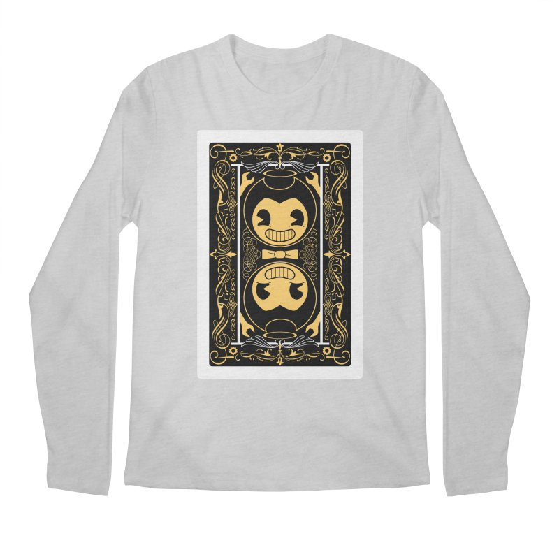 Bendy and the Ink Machine Playing Card Men's Regular Longsleeve T-Shirt by WatchPony Clothing Collection