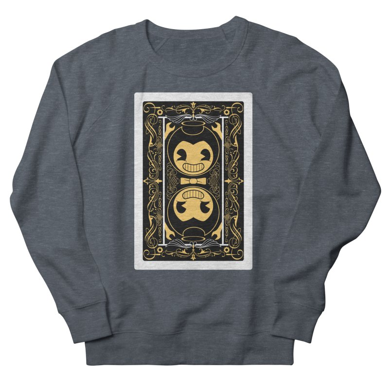 Bendy and the Ink Machine Playing Card Women's French Terry Sweatshirt by WatchPony Clothing Collection