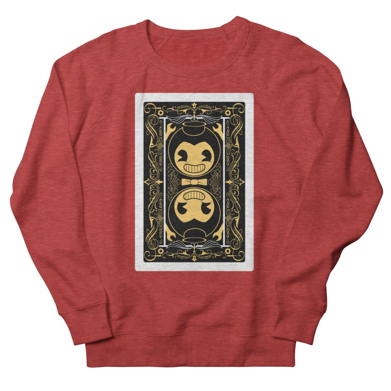 Bendy and the Ink Machine Playing Card Men's French Terry Sweatshirt by WatchPony Clothing Collection