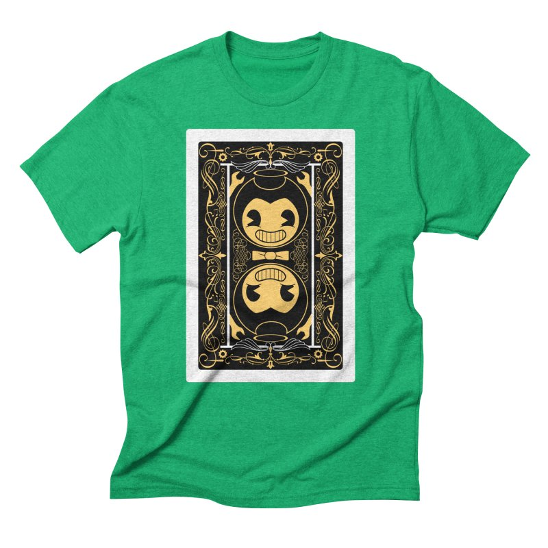 Bendy and the Ink Machine Playing Card Men's Triblend T-Shirt by WatchPony Clothing Collection