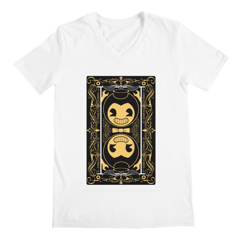 Bendy and the Ink Machine Playing Card Men's V-Neck by WatchPony Clothing Collection