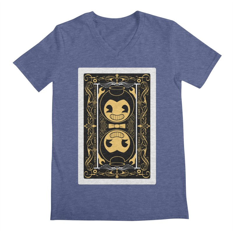 Bendy and the Ink Machine Playing Card Men's Regular V-Neck by WatchPony Clothing Collection