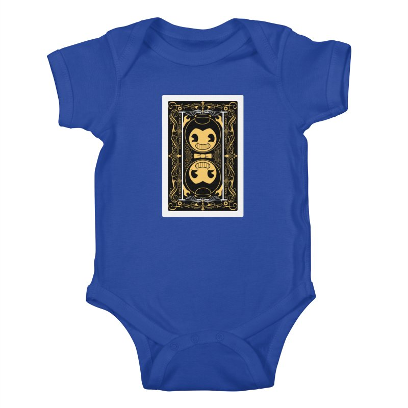 Bendy and the Ink Machine Playing Card Kids Baby Bodysuit by WatchPony Clothing Collection