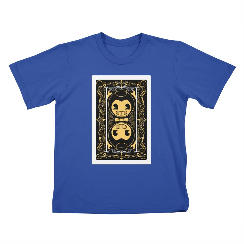 Bendy and the Ink Machine Playing Card Kids T-Shirt by WatchPony Clothing Collection