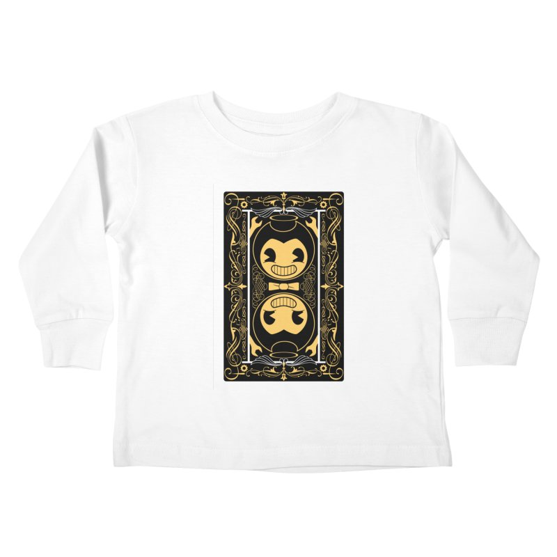 Bendy and the Ink Machine Playing Card Kids Toddler Longsleeve T-Shirt by WatchPony Clothing Collection