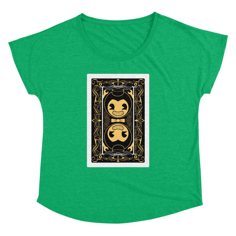 Bendy and the Ink Machine Playing Card Women's Dolman Scoop Neck by WatchPony Clothing Collection