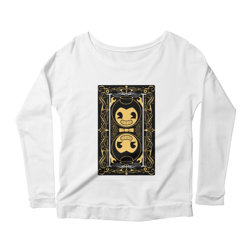 Bendy and the Ink Machine Playing Card Women's Scoop Neck Longsleeve T-Shirt by WatchPony Clothing Collection