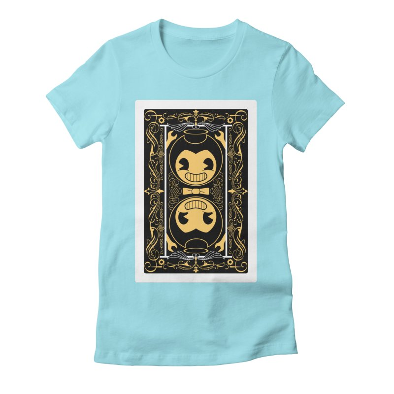 Bendy and the Ink Machine Playing Card Women's Fitted T-Shirt by WatchPony Clothing Collection