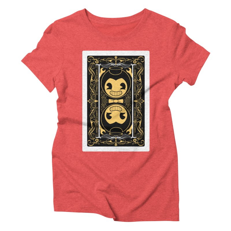 Bendy and the Ink Machine Playing Card Women's Triblend T-Shirt by WatchPony Clothing Collection