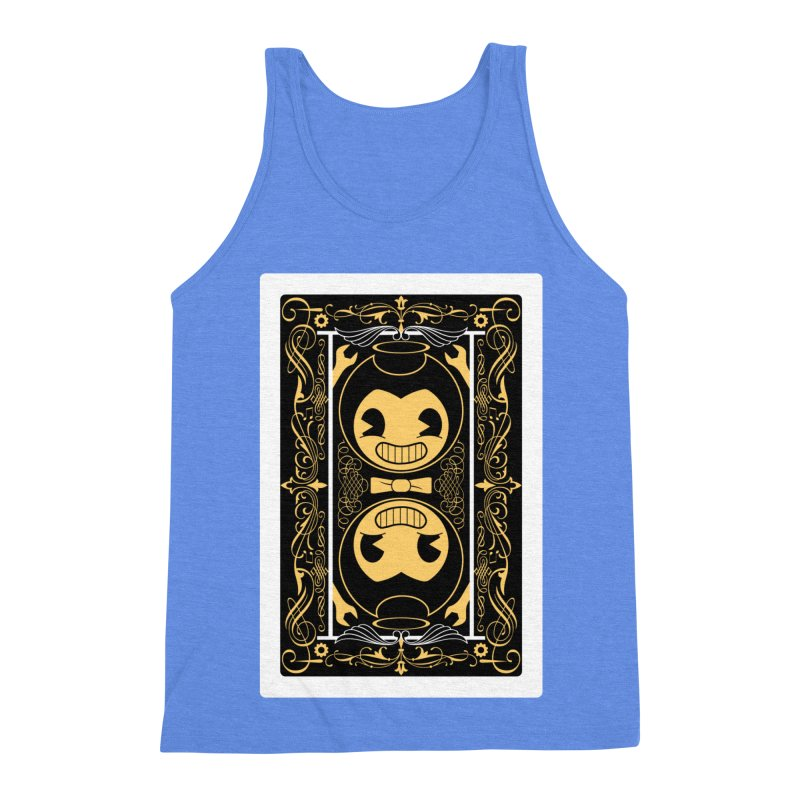 Bendy and the Ink Machine Playing Card Men's Triblend Tank by WatchPony Clothing Collection